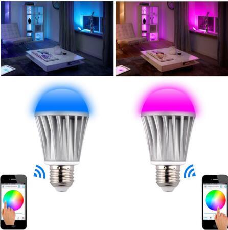 wifi lighting control LED Smart Bulb RGBW 7.5W AC85 to 265V wifi LED LIGHT BULB<br>