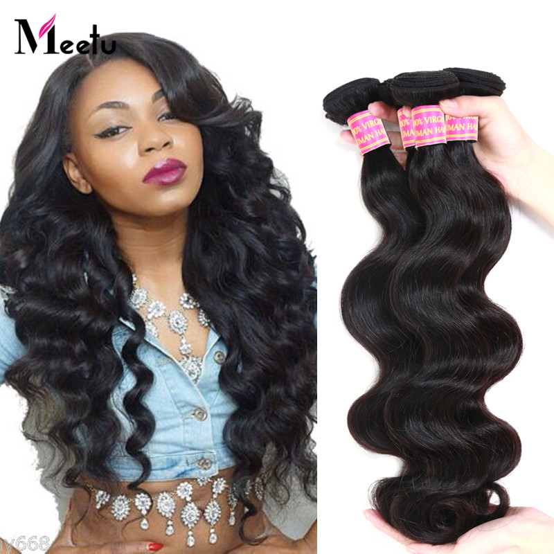 3Pcs Meetu Hair Products Malaysian Body Wave 7A Unprocessed Virgin Hair 100% Human Hair Weave No Shedding Malaysian Virgin Hair<br><br>Aliexpress