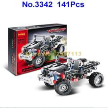 Decool 3342 141pcs Transport Jeep Vanguard Suv Racing Car Building Block Compatible 6867 Brick Toy