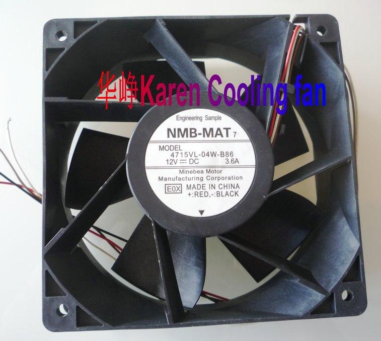 New Original NMB 4715VL-04W-B86 E0X 120*120*38MM DC12V 3.6A 12cm cooling fan<br>