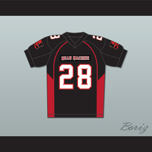 Horlohawk high quality #28 Lewis Mean Machine Convicts Football Jersey Includes Patches(China)
