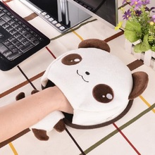 Hot Cute Cartoon Panda Home Office Winter Plush Warm Mouse Pad Laptop Wrist Rest Mice Pad USB Warm Hand Heating Mice Mat Nov1