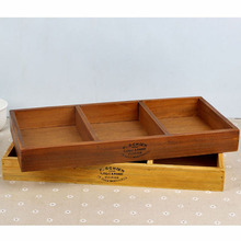 Vintage Retro Storage Boxes Handmade Wooden Box Plant Tray Cosmetic Box Jewellery Organizer Decorative Wooden Display Boxes