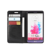 Deluxe Wallet Case For LG G3 F400 D855 D857 D858 D859 Genuine Cow Leather Case For LG G3 Flip Cover Phone Bags