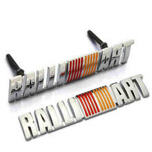 Excellent Metal RALLIART Grille Emblem Stickers badge for mitsubishi asx lancer outlander galant pajero Etc(China)