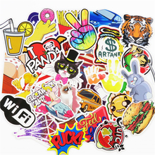 51 Pcs Stickers Mixed Funny Cartoon Jdm Doodle Decals Luggage Laptop Car Styling Skateboard DIY Home Decor Sticker kid's Toy