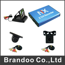 2 Channel DVR Kit With Car Camera and Monitor for Car Vehicle Taxi Bus Used
