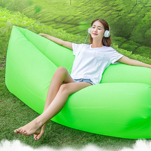 Rapid inflation Sofa Inflatable Camping Sleeping lamzac Banana  Hangout fest lazy Nylon put Air Bed Sofa Lounger chair beach mat