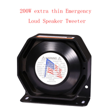 LARATH 200W for Police Siren Ultra Slim Loud 12V alarm Siren Loud warning Speaker Emergency horn Black Metal(China)