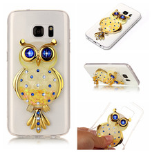 2017 Luxury Quicksand Liquid Owl Soft Bracket Case For Samsung Galaxy S7 Edge S8 Plus A3 A5 A7 J3 J5 J7 2015 2016 Phone Cover