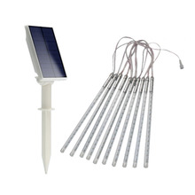 New Arrival 10pcs LED Strip Light Outdoor Solar Powered Light IP65 Waterproof Light 2200mAh Decorative Lamp(China)