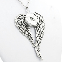 Wing charm jewelry long chain necklaces & pendants for women men watches NE309 Beads Women's neck (fit 18mm snaps)