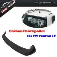 Carbon Fiber Rear Roof Wing Spoiler for Volkswagen VW Touran 1T 2016 Auto Racing Car Styling Tail Roof Window Wing Spoiler