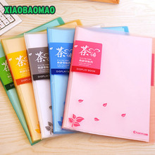 Colorful A4 PVC Clear Book Presentation Folder 40/60 Pockets File Folder Document Folder Display Book Office Supplies(China)