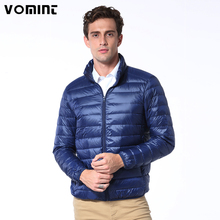 Vomint Brand New Casual Ultralight Mens Duck Down Jackets Autumn Winter Jacket Men Lightweight Jacket Solid Color Coat V7A1C001(China)