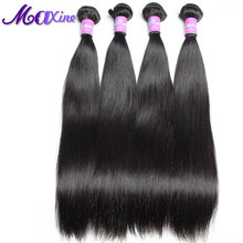 Maxine Brazilian Straight Hair Remy Hair Bundles 100% Real Human Hair Weaving Double Weft Sew In Weave Can Mix 3 Or 4 Bundles(China)