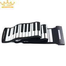 MD88S Flexible 88Keys Professional MIDI Keyboard Electronic Roll Up Piano for Children
