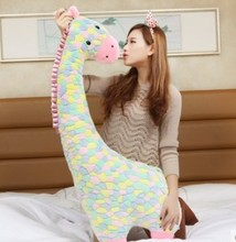 High Quality The Giraffe Plush Pillow Giraffe Soft Stuffed Doll 80cm Size Gift For Kids Factory Supply  Christmas Gift