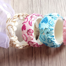 1pcs/lot Fabric Lace Tape DIY Multifunction Simple Tape Knitted lace cloth decoration Adhesive Tape Stationery(China)