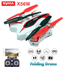 SYMA X56W Drones with Camera HD Folding Dron Real Time Video Quadcopter 2.4G 6 Axis WIFI Quadrocopter Aircraft Rc Helicopter(China)