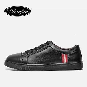 36 ~ 48 Hecrafted Hombres Zapatos Casuales 2017 de La Moda de Primavera Hombres Zapatos de Cuero Partido de la Vaca # CX438