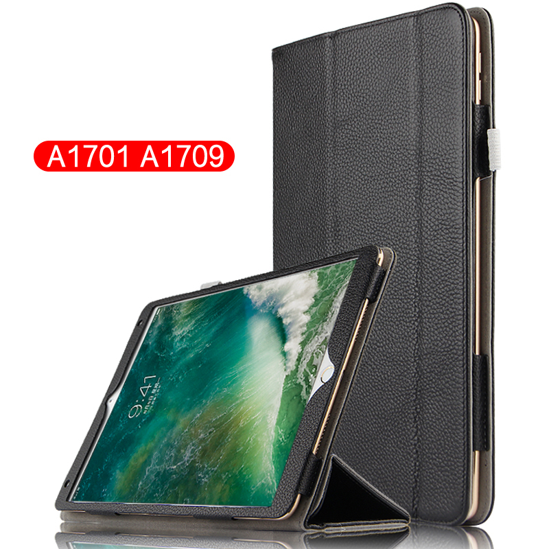 High Quality Genuine Leather Mangetic Smart Sleep &amp; Wake up Stand Cover Real Leather Case For Apple iPad Pro 10.5 10.5 Tablet<br>