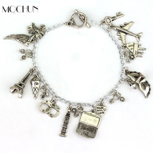 Women Fashion FSOG Charm Bracelet Fifty Shades of Grey Inspired 50 Shades charms Tie Handcuffs Gray Bracelets Women Men Gift