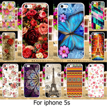 TAOYUNXI Phone Case Cover For iPhone 5 5S SE Cover For Apple iPhone5 iPhone5s Case Rose Peony Flower Soft TPU Hard Plastic Cover(China)