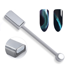 Modelones 1Pcs Double Head 3D Magnet Stick For UV Magnet Gel Polish DIY Nail Art Magic Cat Eyes Effect Nail Tools High Quality(China)