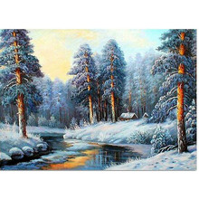 Resin 5D Diamond Mosaic Landscapes Garden Lodge Full Painting Cross Stitch Kits Diamonds Embroidery Home Decor DIY Painting JK97