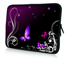 "Butterfly 13 inch laptop sleeve 15"" 15.6"" computer bag 17"" notebook case for mac pro/ lenovo/ dell/ ause/hp 13.3"" 11.6"""