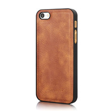 DG Ming Luxury Genuine Leather Magnetic Wallet 2 in 1 Detachable Phone Case for iPhone 5 5s SE 6S 7 8 x Plus Hand Bag Cover(China)