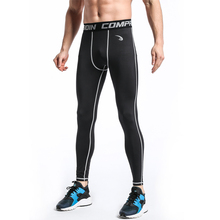 Free Shipping Men's Compression Pants Leggings Coolmax Quick Dry black stretch Tights Full Length Pants