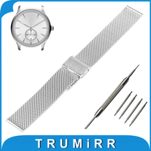18mm 20mm 22mm 24mm Milanese Watch Band + Tool Armani Stainless Steel Strap Metal Wrist Belt Bracelet Black Rose Gold Silver - TRUMiRR Watchband Store store