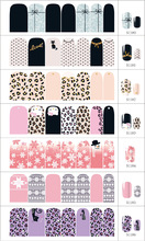 10pcs/lot Free shipping S1180-1200 leopard Christmas Halloween nail sticker