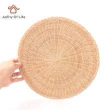 2 PCS/LOT Handmade Table Mat Circle Heat Pad Dining Table Disc Pads Bowl Pad Cup Mats Kitchen Utensils Placemat