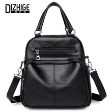 b23772758f19 Fasion women backpack High Quality Pu leather Backpacks For Teenage Girls  Famous Brands Solid Zipper Embossing School Bag 2018
