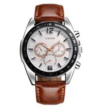 Relogio Masculino Erkek Kol Saati Saat Clock MenWatch Luxury Stainless Steel Quartz Military Sport Leather Band Dial Wrist may30