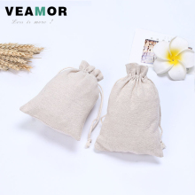 50PCS/lot 13*17.5cm Cotton and Linen Pure Color Gift Bag Children Beam Port Candy Storage Bags Festive Decoration Bags B1219