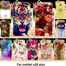 TAOYUNXI Silicone Phone Cover Case For Oukitel U20 Plus 5.5 inch Cover Fundas Soft TPU Case Flowers Rose Cat Housing Shell Bag(China)
