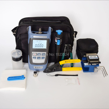 12pcs/set FTTH Fiber Optic Tool Kit with Fiber Cleaver -70~+10dBm Optical Power Meter Visual Fault Lcator 5km(China)