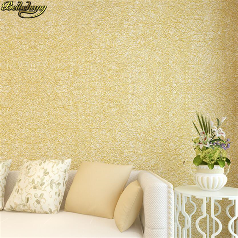 beibehang Silk simple modern wallpaper living room non-woven wall paper TV wall background pure color plain papel de parede<br>