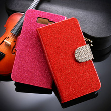 Glitter Bling Diamond Mobile Phone Cases For Motorola Moto RAZR I XT890 Housing Covers Wallet Stand Flip Holster Bag Shell Hood