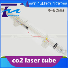 free shipping to colombia Laser tube 100w co2 laser glass tube 100w length 1450mm diameter 80mm  sending from colombia