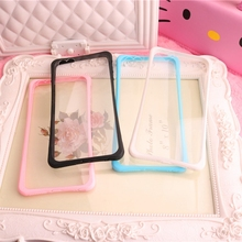 Heart Shape Camera Window Phone case Back transparent Cover Clear Cases for iPhone 5 5S 6 6S 7 plus Dustproof plug desighed