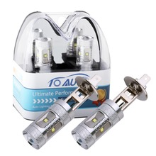 1 pair super bright white cree chip bright car light bulb lamp h1 led 30w bulbs kit Auto DRL Fog Lights Vehicles(China)