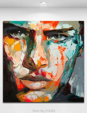 Angry Man - High Quality Wall Art 100% Hand-painted Oil Painting On Canvas Palette Knife Figure Pop Art Home Decoration(Hong Kong)