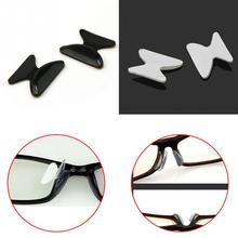 5 Pair Anti-slip Nose Pads Eyewear Spectacles Stick On Nose Black White Silicone Pad 1.8mm/2.5mm