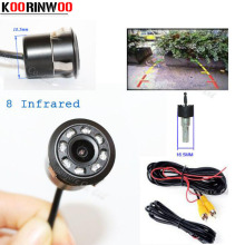 Koorinwoo Universal 18.5mm Punch Invisible Car Rear View Camera Front Camera 8 Light Car Parking Assistence Auto Video System(China)