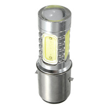 Motorbike Headlight BA20D H16 4 COB LED White Bulb Light For Motorcycle Bike Moped Scooter ATV Fog Light